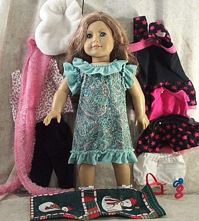 "Doll Clothes Made 2 Fit American Girl 18/"" in 2 pcs Tunic Pants Dragonflies"