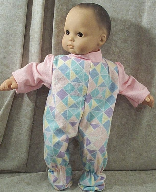 Doll Clothes Baby Made 2 Fit American Girl 15 inch Bitty Pajamas Pink