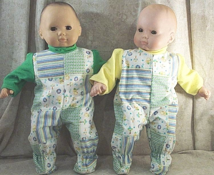 """Doll Clothes Baby Made 2Fit American Girl Boy 15/"""" inch Twins Pajamas Bitty Dots"""